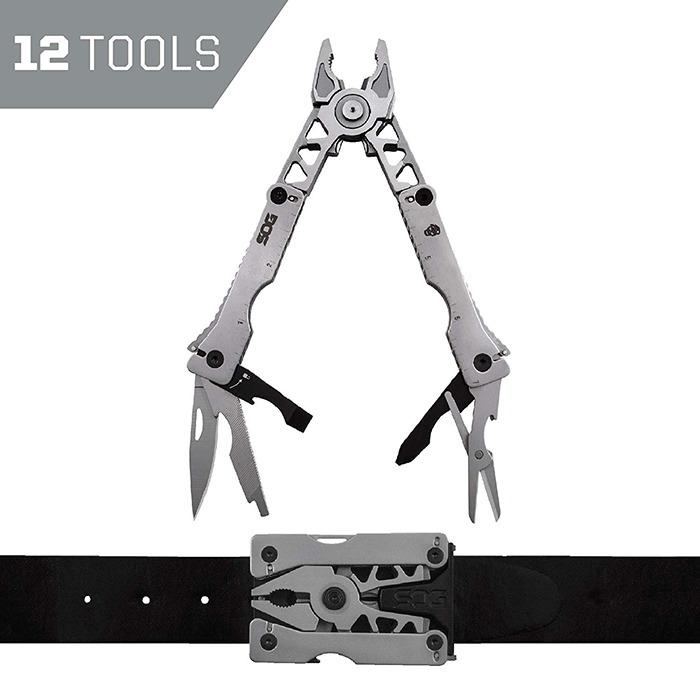 Multitool Belt Buckle 12 Tools