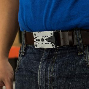 Multitool Belt Buckle In Use