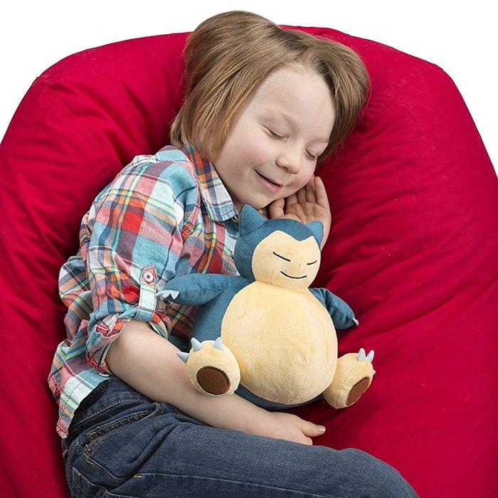 Pokemon Snorlax Bean Bag Plush Cuddling