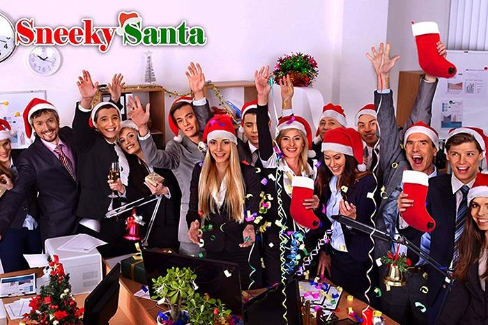 Sneeky Santa's Wine Stocking Flask Party
