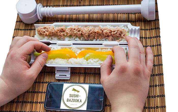The Sushi Bazooka Loading