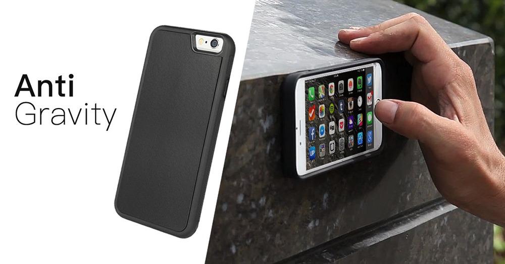 Anti Gravity iPhone Case Stuck On Wall (Mega Tiny Corp) 2