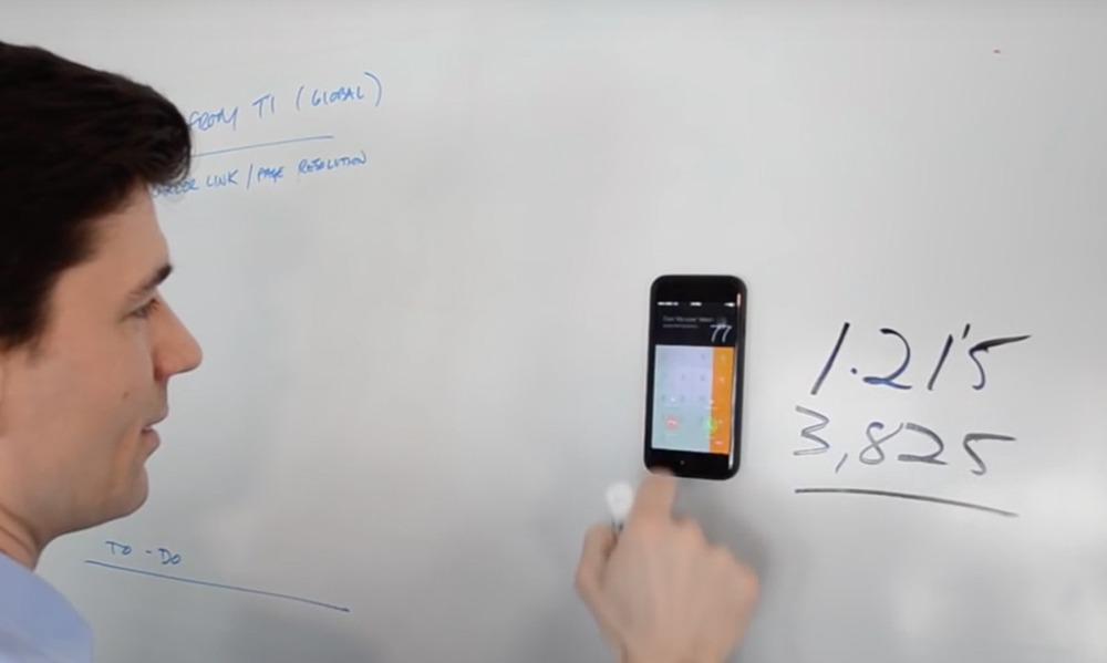 Anti Gravity iPhone Case Stuck On Whiteboard (Mega Tiny Corp) 2