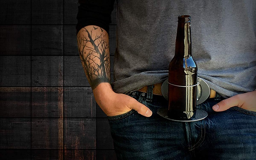 Belt Buckle Beer Holder 2