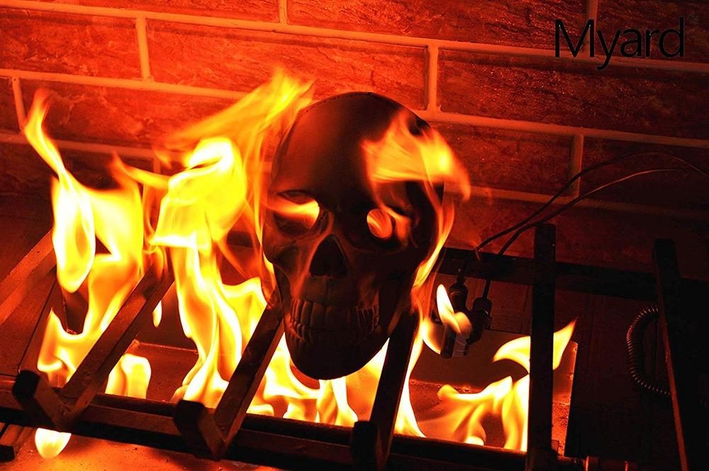Fire Pit Skull Logs 10