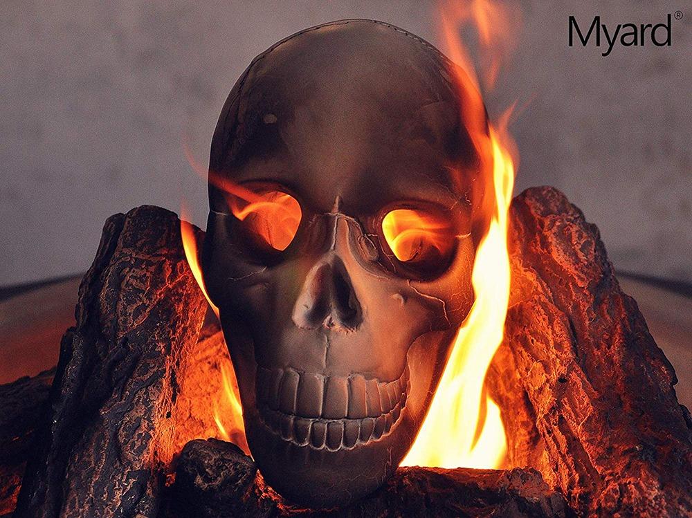 Fire Pit Skull Logs 12