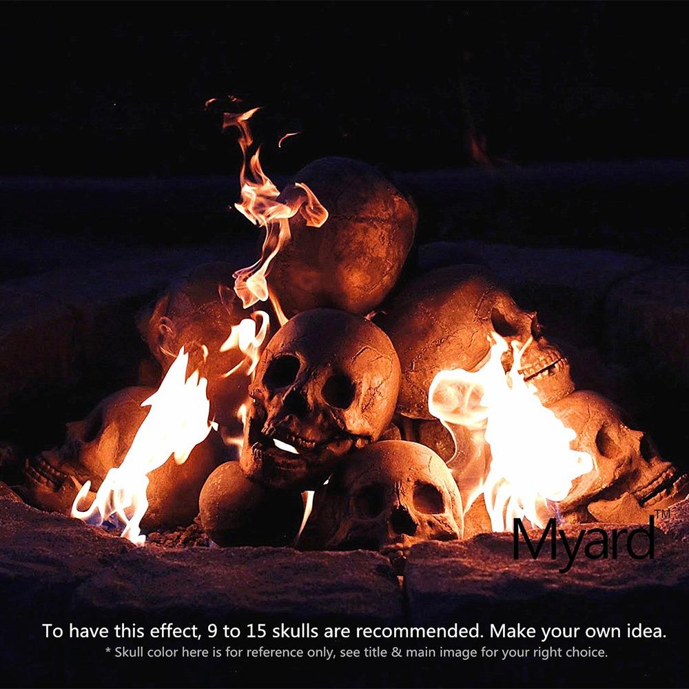 Fire Pit Skull Logs 8