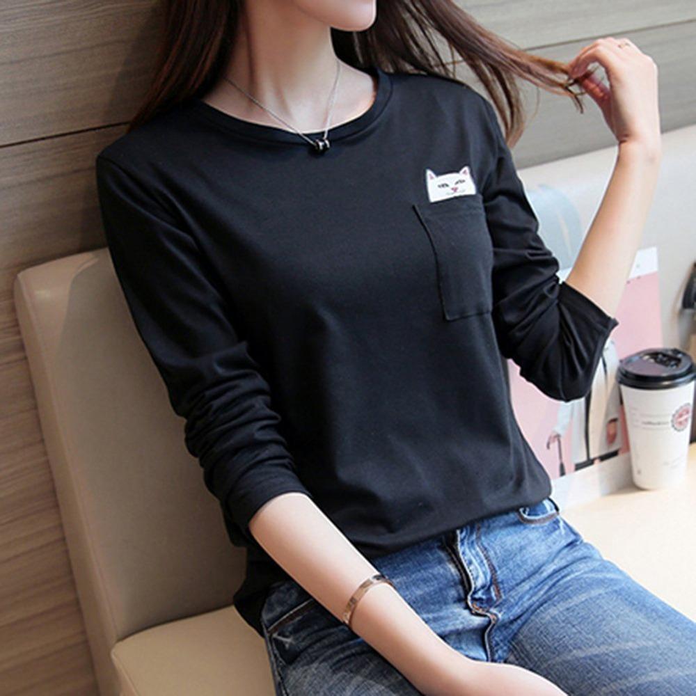 Middle Finger Pocket Cat Shirt 4