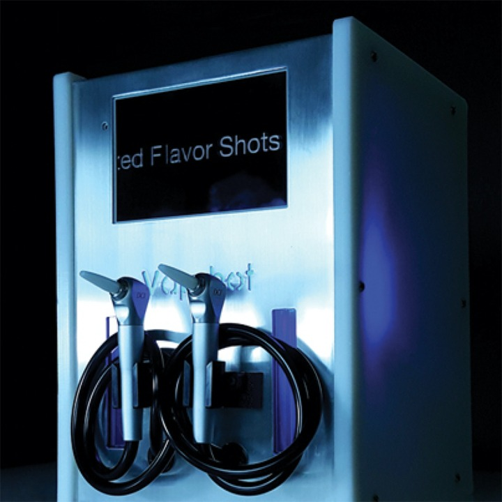 Vapshot Vaporized Alcohol Shot Machine Silver Duo