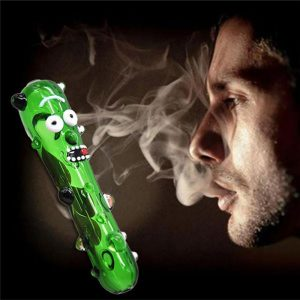 Pickle Rick Glass Pipe