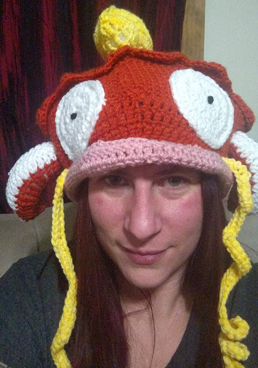 Crocheted Pokemon Magikarp Hat 2