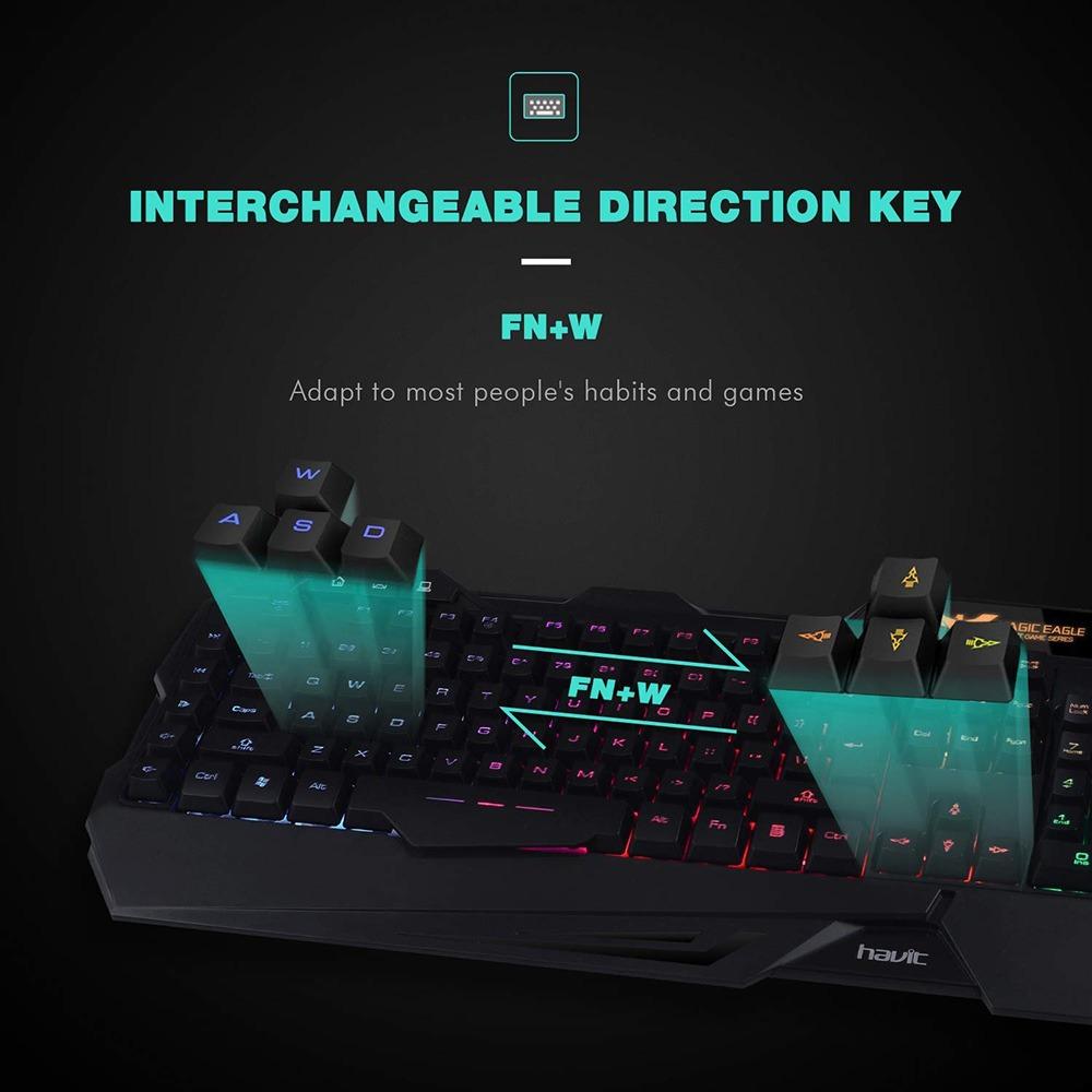 Rainbow Backlit Gaming Keyboard 2