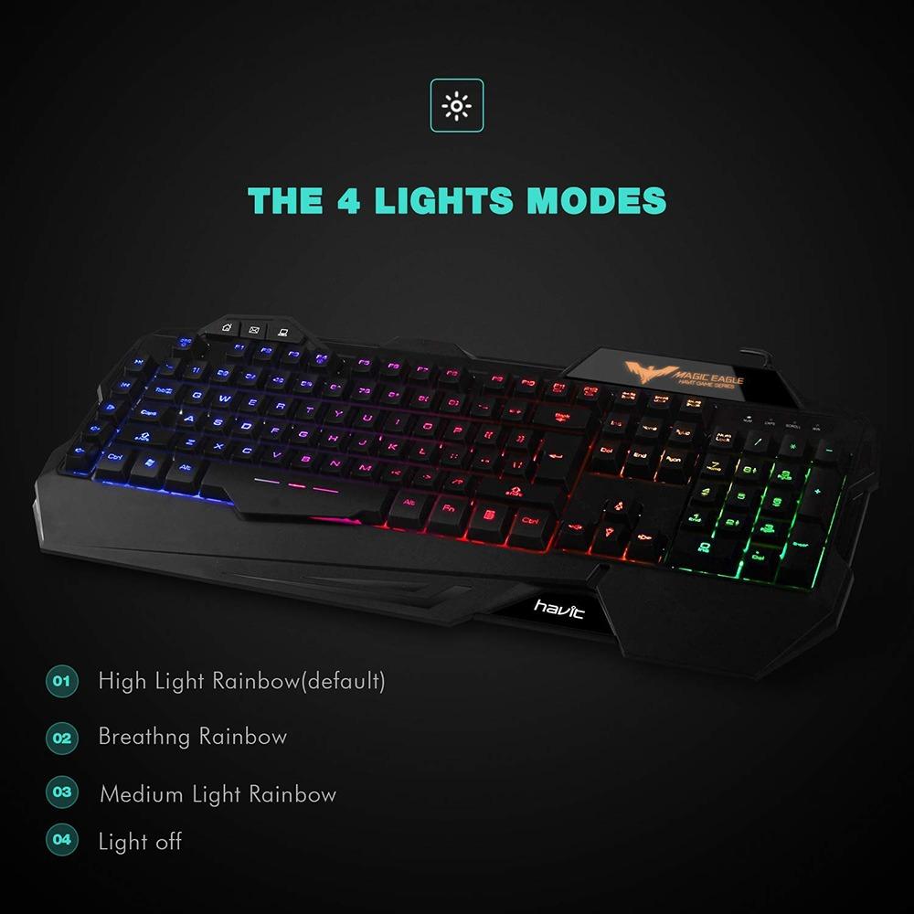 Rainbow Backlit Gaming Keyboard 3