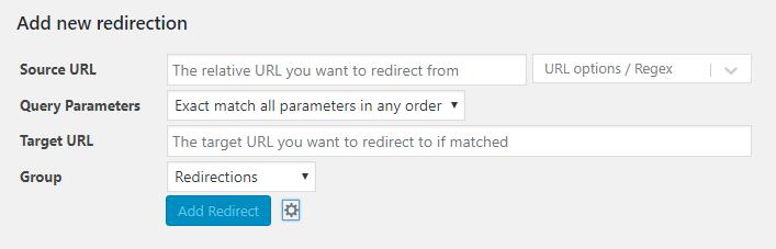 WordPress Redirection Plugin Options