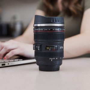 Camera Lens Coffee Mug In Use [Square]