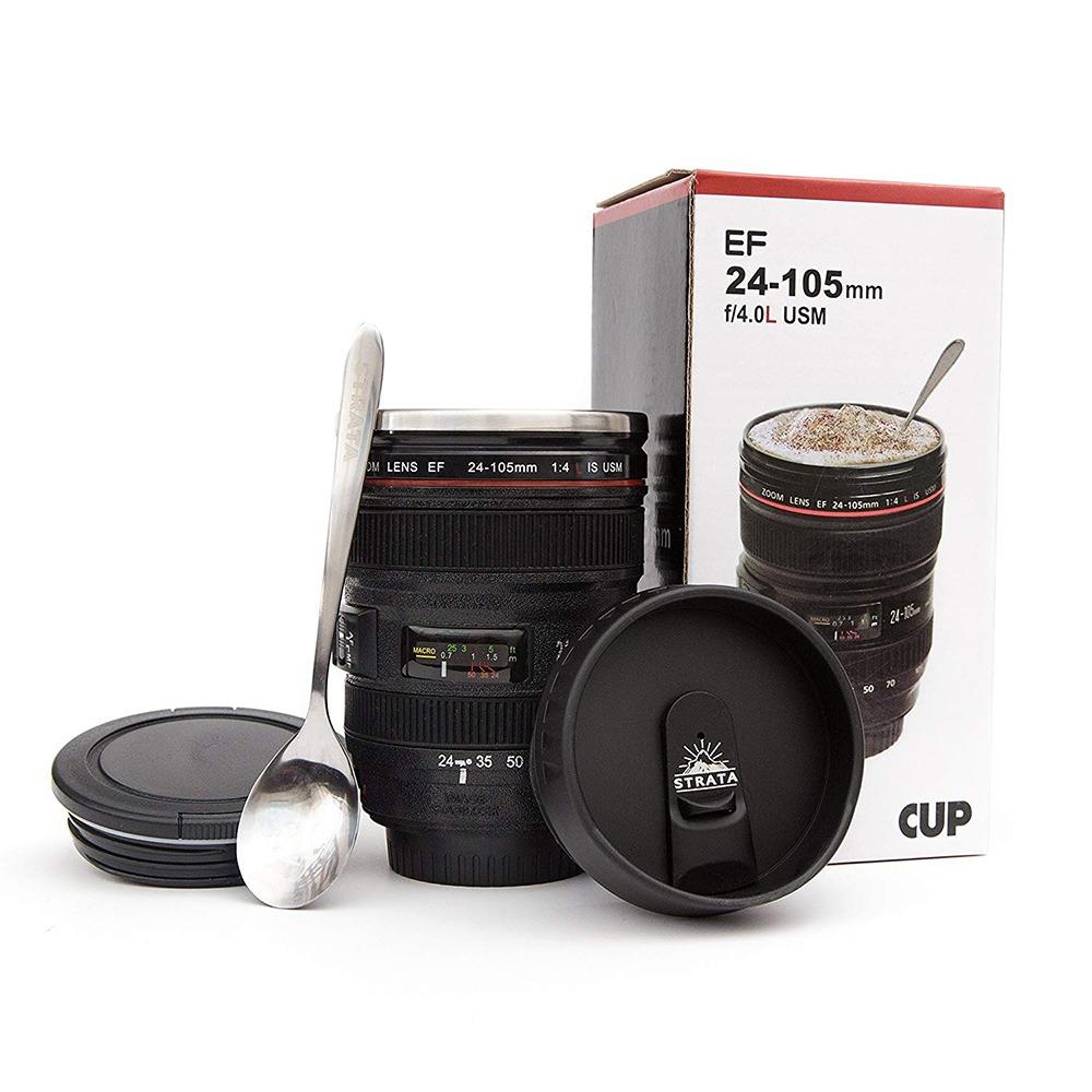 Camera Lens Coffee Mug With Box
