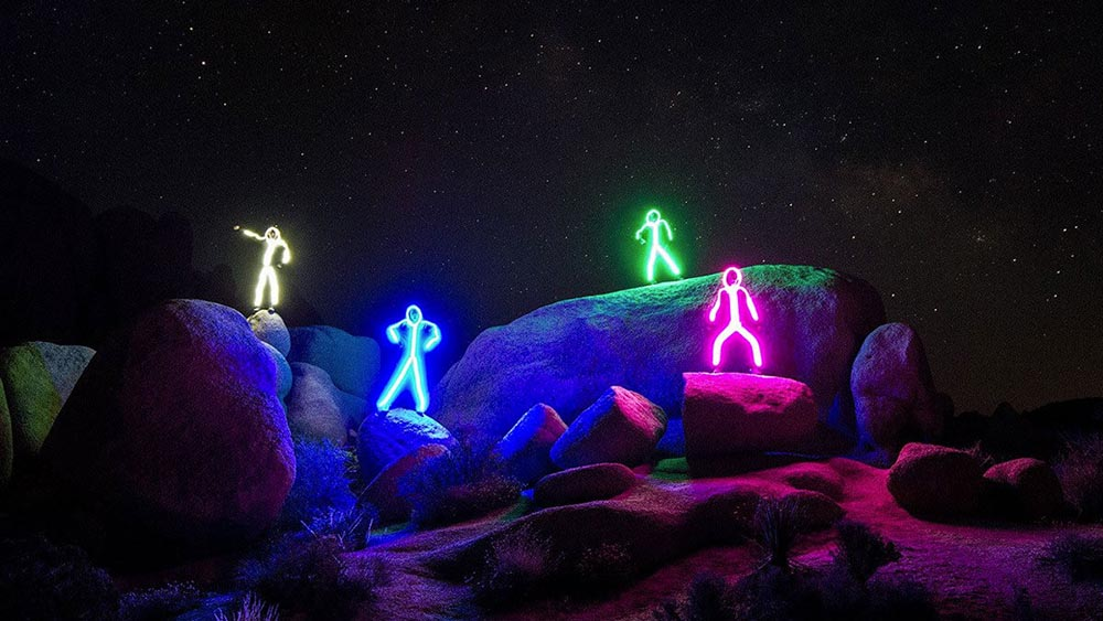 LED Stick Figure Costume 3