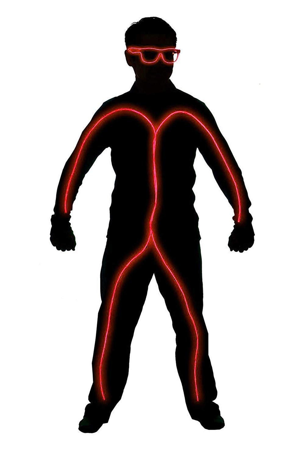 LED Stick Figure Costume 6