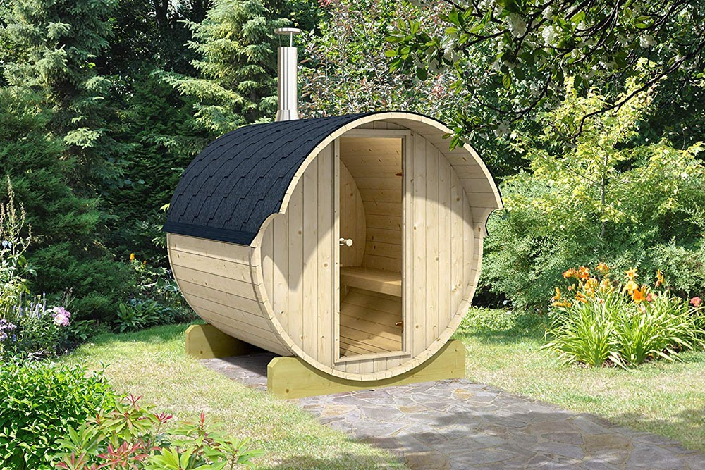 4 Person Barrel Sauna 2