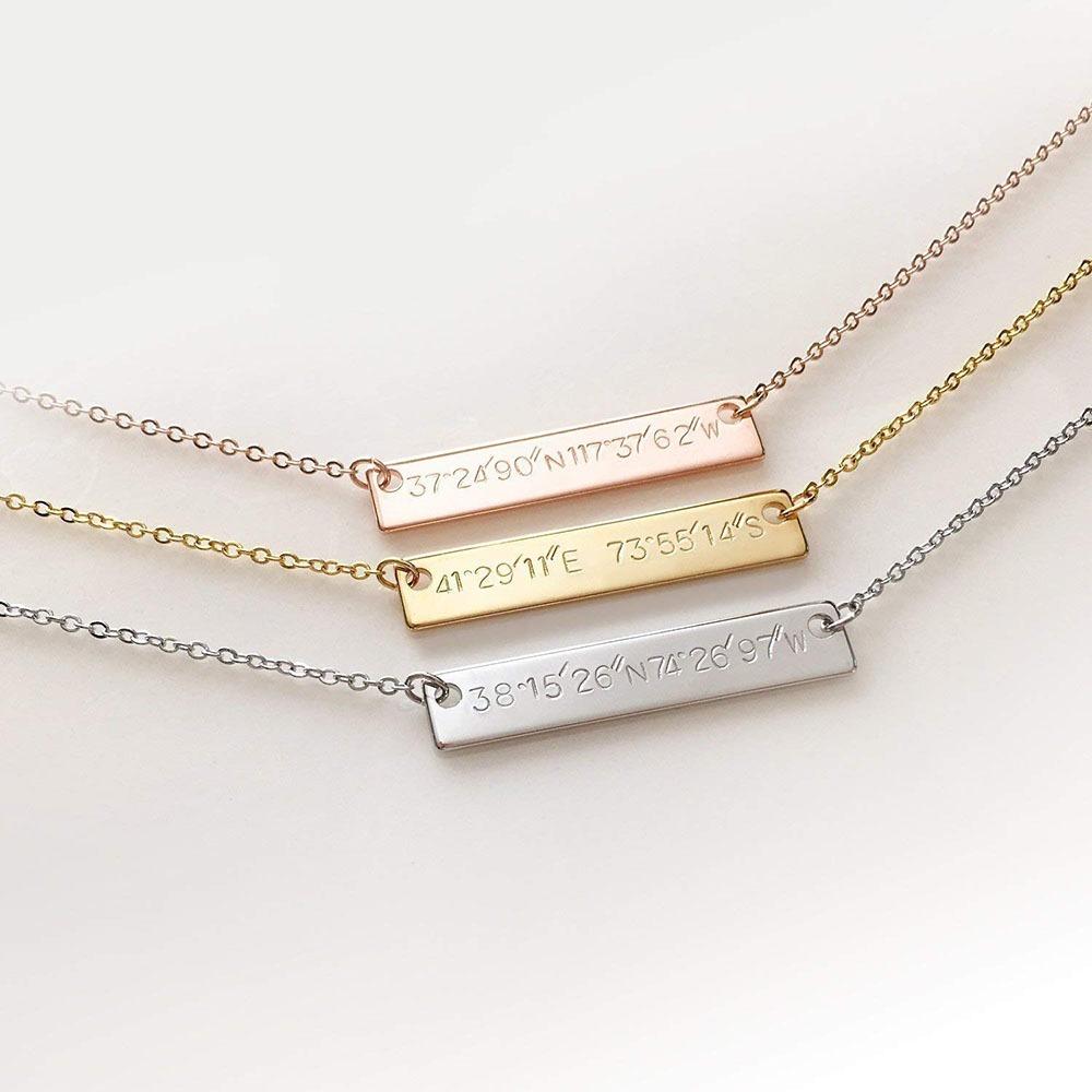 Custom Coordinates Necklace 5