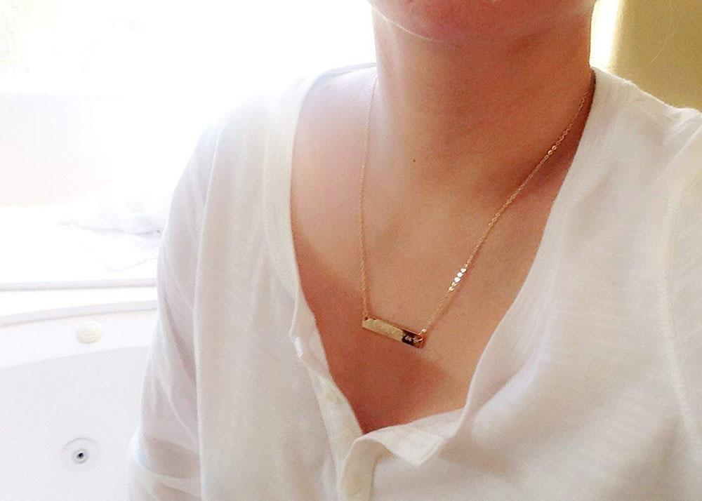 Custom Coordinates Necklace 7