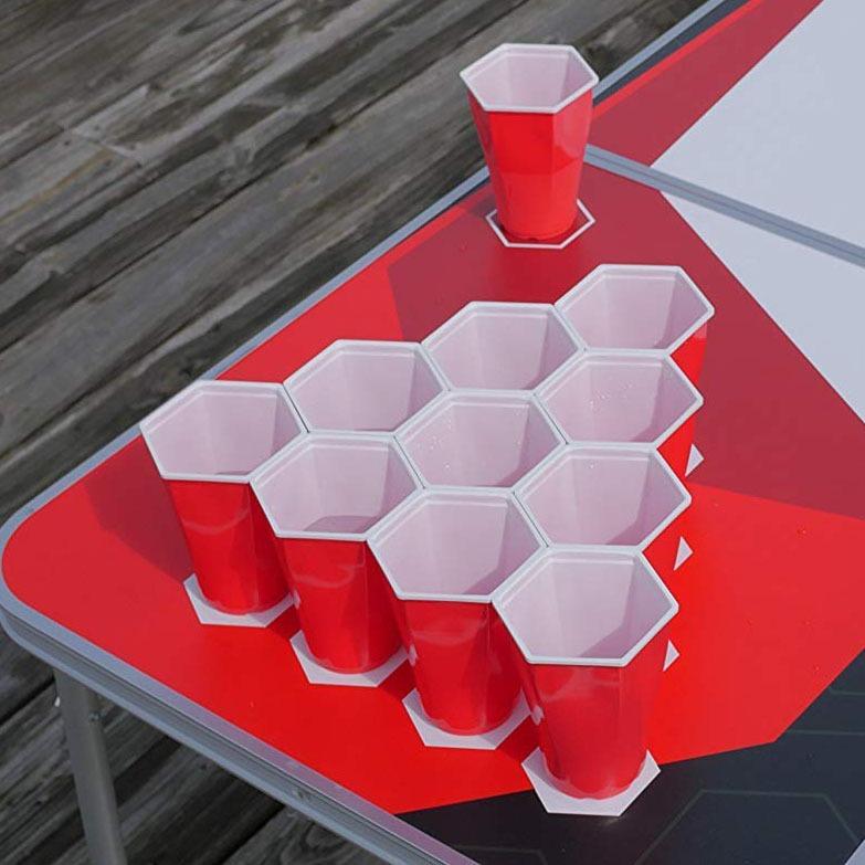 Hexagonal Beer Pong Cups