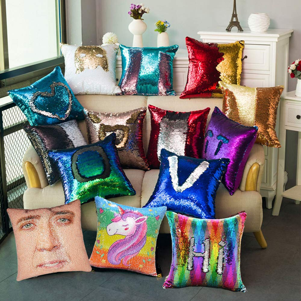 Nicolas Cage Sequin Pillow 6