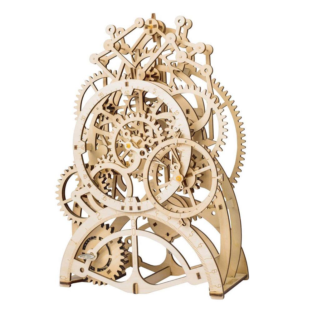 Wooden Mechanical Clock Kit 2