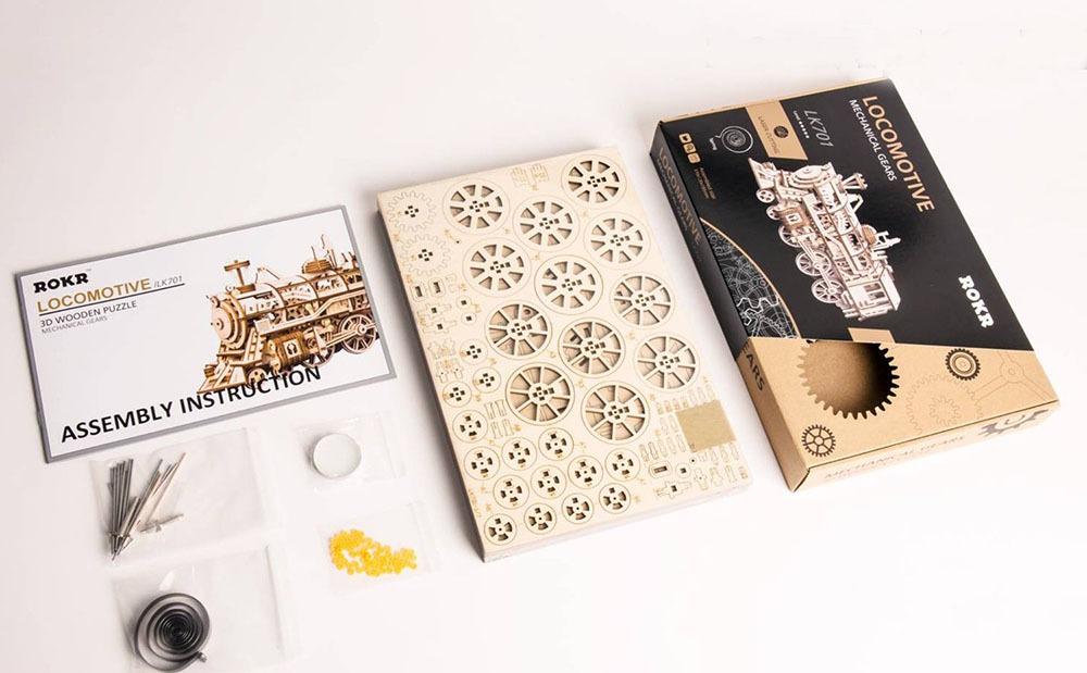 Wooden Mechanical Clock Kit 5