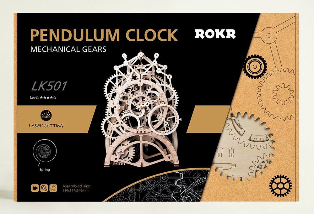 Wooden Mechanical Clock Kit 6