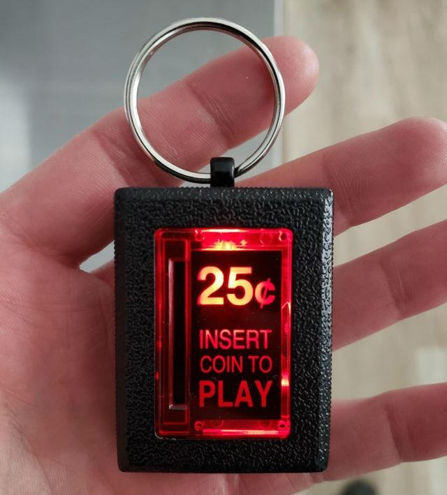 Insert Coin Arcade Keychain 2