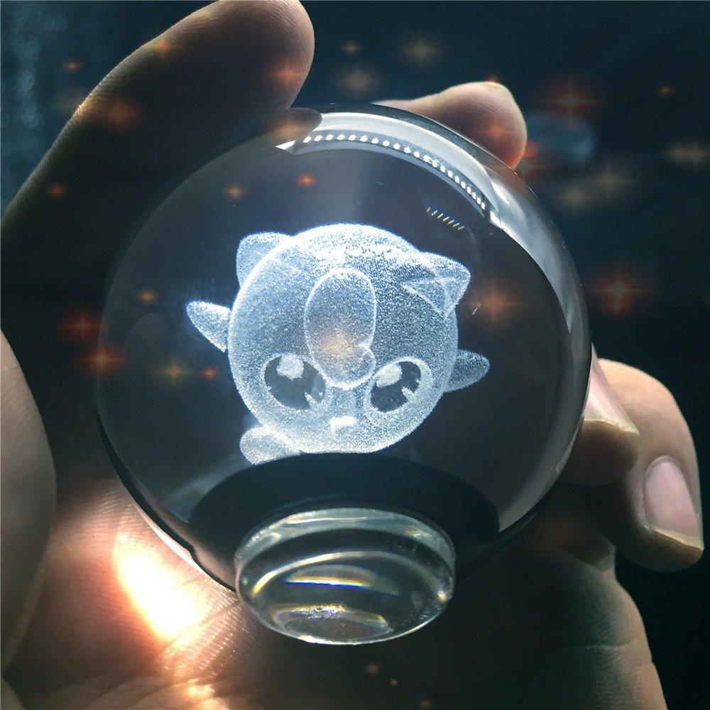 Laser Engraved Crystal Pokeballs 4