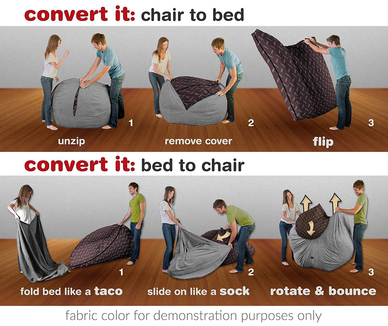 Convertible Bean Bag Chair 5