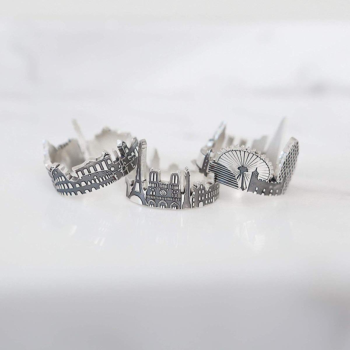 Custom Cityscape Rings 8