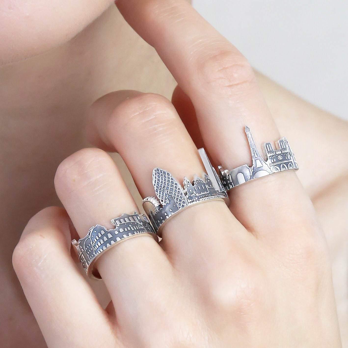 Custom Cityscape Rings