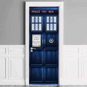 Doctor Who TARDIS Door Cover 3