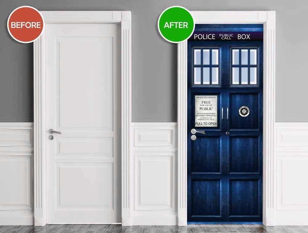 Doctor Who TARDIS Door Cover