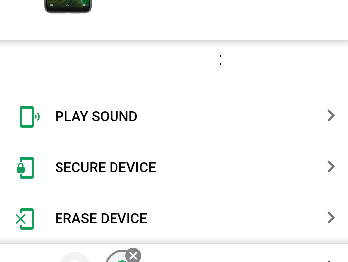 Google Find My Device Options