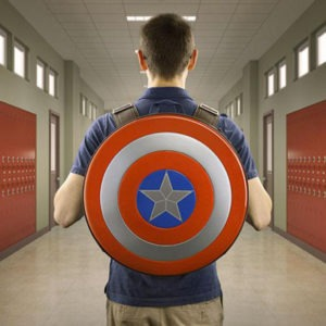 Captain America Shield Backpack In Use