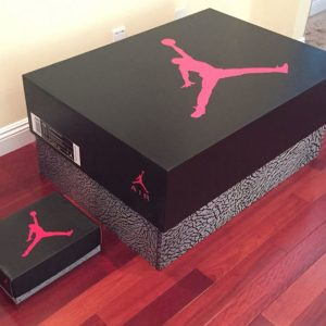Jordan Shoe Storage Box Labelled