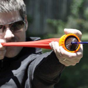 Pocket Shot Arrow Slingshot In Use