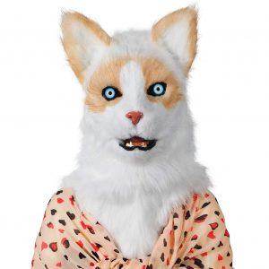 Realistic Cat Head Mask 04