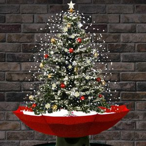 Tabletop Snowing Christmas Tree