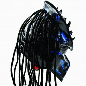predator helmet with dreadlocks