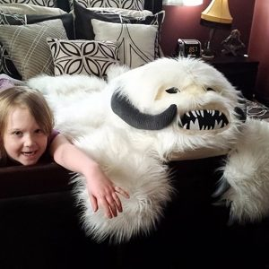 Star Wars Wampa Rug In Use