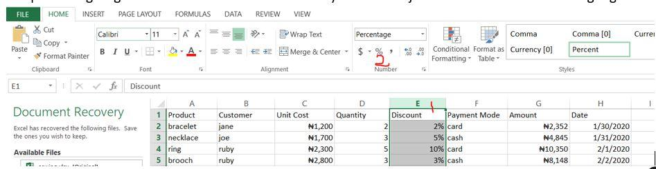 Calculating total sale with discount