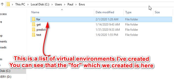 Envs folder image