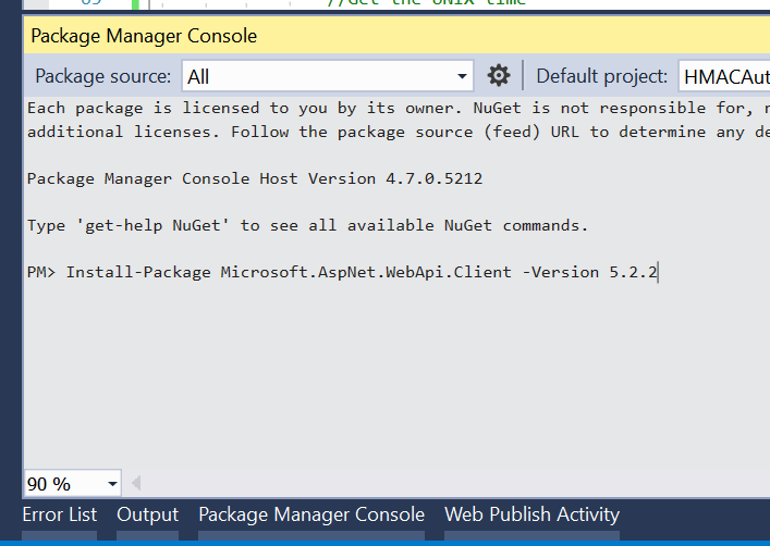 Install Neget Package