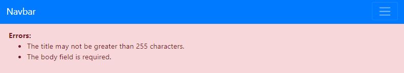 Laravel Blog Error
